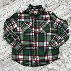 [Cherokee] Christmas Plaid Flannel S Small 6/7